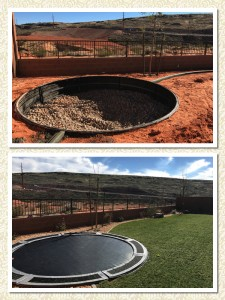 Trampoline-before-and-after